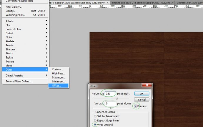 Как сделать бесшовную текстуру дерева в Photoshop. УРОК : YN3