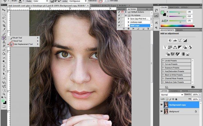 Как сделать цвет глаз через фотошоп — Simvol-goroda.ru
