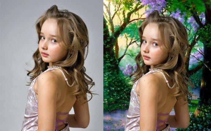Обработка фотографий в Photoshop Сложная замена фона