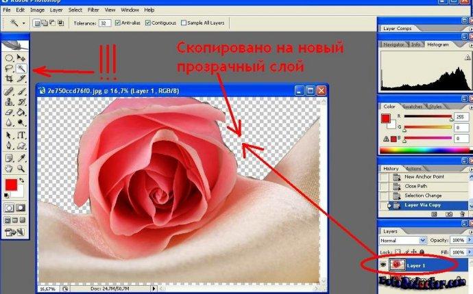 Photoshop скопировать слой в другой документ - найдено и доступно