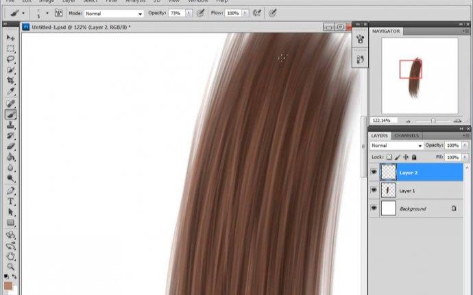 Урок Photoshop. Учимся рисовать волосы. - YouTube