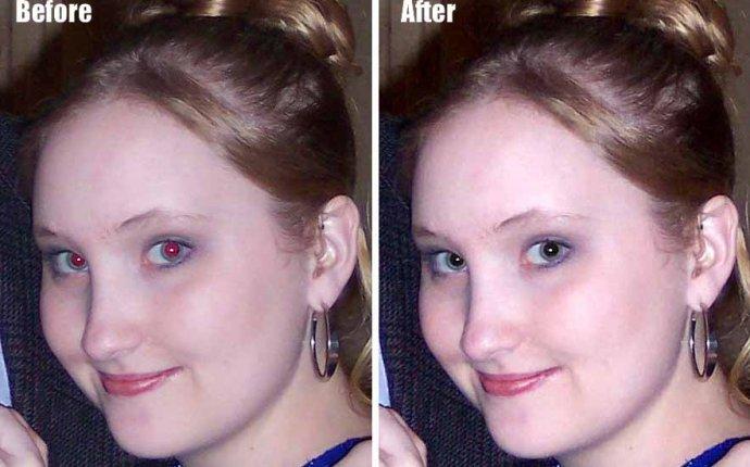 Как убрать эффект красных глаз на